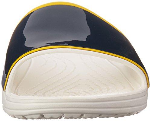 Crocs Dames Trokken Barrymore Sloane Slide White / Navy