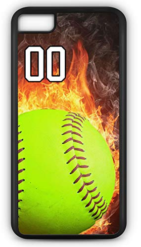 iPhone 6 Plus 6+ Phone Case Softball S123Z by TYD Designs in Black Plastic Choose Your Own Or Player Jersey Number 00