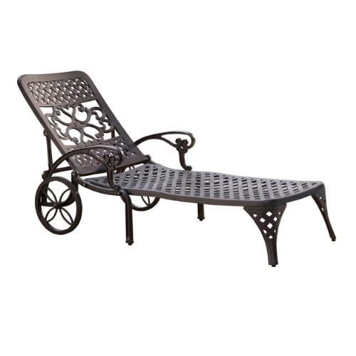 Biscayne Black Chaise Lounge Chair by Home Styles