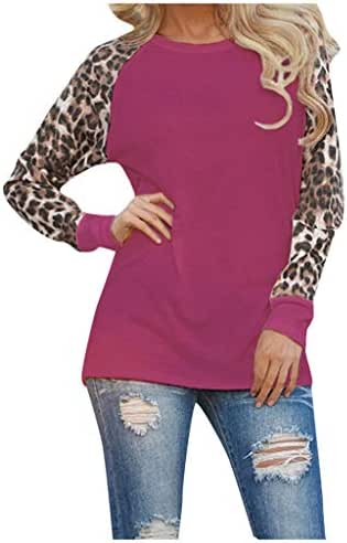 Shirts for Women Plus Size Leopard Print Blouse Long Sleeve Fashion Casual Ladies T-Shirt Oversize Tops Tunic