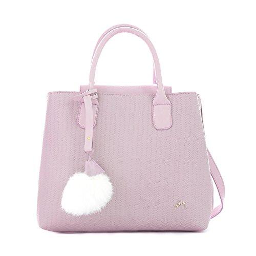 para Purse de Carteras Leather Colombian Mujer Women Velez Purple Handbag Cuero 1021487 Genuine xfazCqp