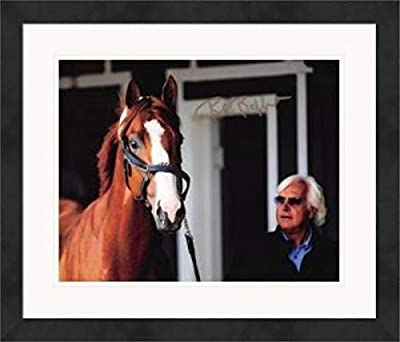 Bob Baffert autographed 8x10 photo (Horse Racing, Kentucky Derby, Triple Crown Trainer) #20 Matted & Framed