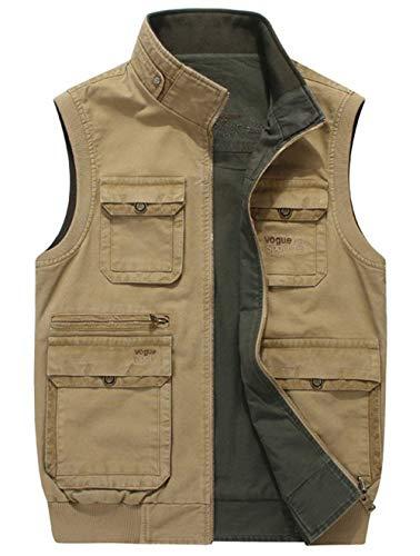 In Ad Uomo Tasche Good Off Asciugatura Multifunction Da Traspirante Molte Jacket Esterno Con Sportivo Gilet Outdoor Khaki Rapida 86 648Bq0z5F