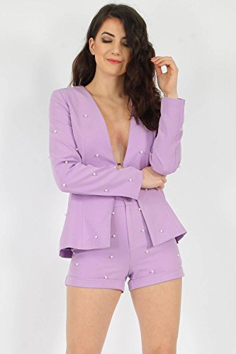 Momo Chaqueta amp;ayat Mujer Lilac Para Fashions wHqOCqFf7