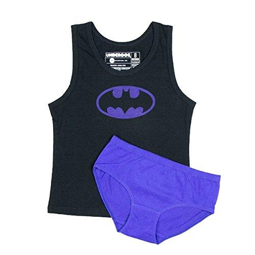 BioWorld Girls Batman Batgirl Underwear Tank Set, Extra Small 4, Multi