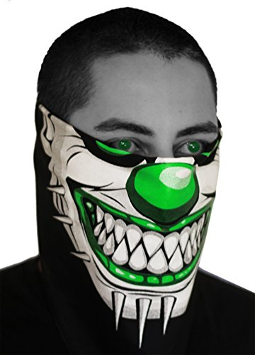 SFYNX 'Evil Clown' EDM Face Mask - Green Rave Bandana
