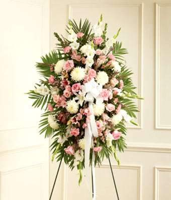 Spray Funeral - Pink Paradise - Same Day Funeral Flower Arrangements - Buy Flowers for Funeral - Send Funeral Flowers Delivery & Condolence Flowers Today