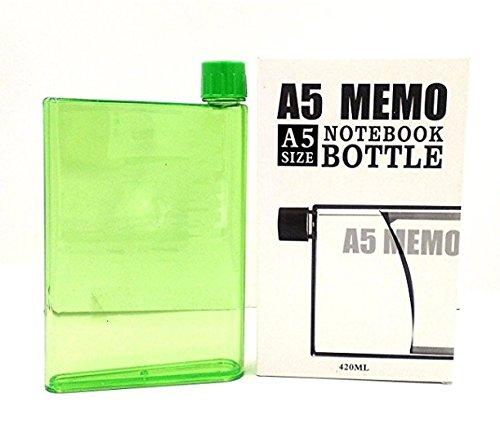 A5 メモ ポータブル ウォーターボトル 420 ml (グリーン) B07DHB7TN8