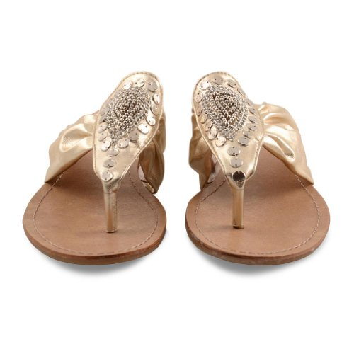 Footwear Sensation - Chanclas de sintético para mujer dorado - Light Gold