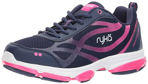 Ryka Women's Devotion XT Cross Trainer, Medieval Blue/Athena Pink/White, 7 M US