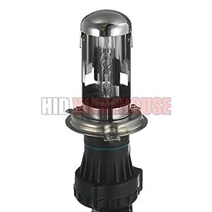 HID-Warehouse® AC 55W HID Xenon Conversion Kit with Premium Slim Ballast - Bi-Xenon H4 / 9003 6000K - Light Blue - 2 Year Warranty