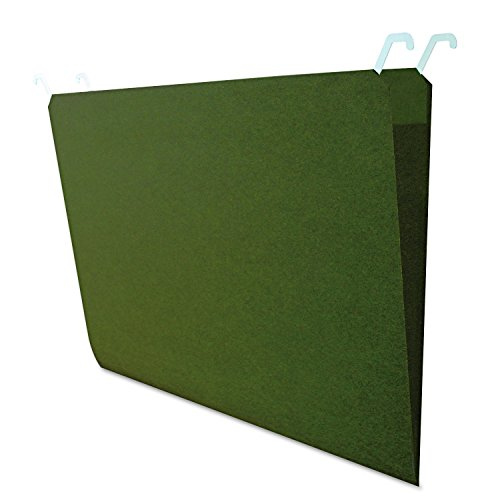Find It Hanging File Folders with Innovative Top Rail, 9 Pt. Stock. Legal Size (11 x 14), Green, 20 per Pack (FT07043)
