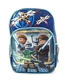 """Lego Star Wars Black Large 16"""" Backpack - Master Yoda - Licensed"""