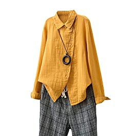 Women's Linen Sleeveless Shirt  Tank Top Casual Plus Size  Blouses