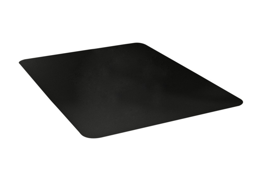 Deflecto EconoMat Black Chair Mat, Low Pile Carpet Use, Rectangle, Straight Edge, 46 x 60 Inches (CM11442FBLKCOM) by Deflecto