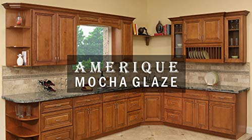 AMERIQUE 691322309355 Luxury Mocha Glaze Vanity Cabinet 30