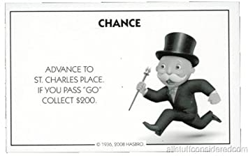 Amazon.com: Monopoly Chance Card Advance to St. Charles ...