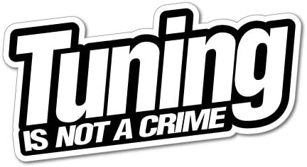 TUNING IS NOT A CRIME JDM Car Adesivo Decal