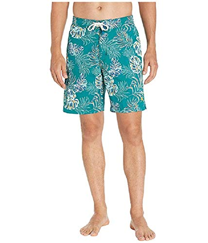 "Tommy Bahama Baja Canyon Leaves 9"" Board Swim Trunks (Color: Quetzal Green, Size XL)"