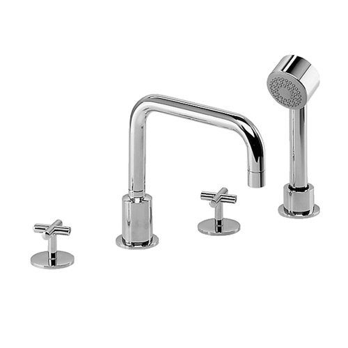 - Jado 832/084/100 IQ Roman Tub Set with Hand Shower, Polished Chrome