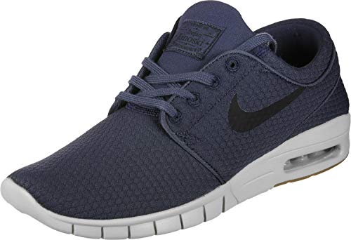 (Nike Stefan Janoski MAX Mens Fashion-Sneakers 631303-402_12 - Thunder Blue/Black-Gum MED Brown)