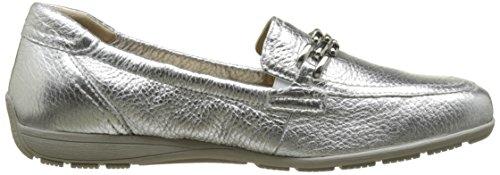 Caprice 24661, Mocasines para Mujer Plateado (Silver Deer)