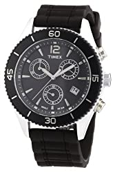 Timex Premium Originals Chronograph Black Dial Unisex Watch T2N826
