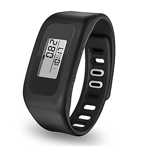 Pedometer, Digital LCD Fitness Bracelet Wristband for Running Walking Distance Step Fitness Tracker by Bereezy