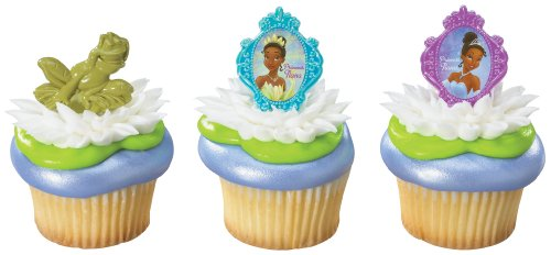 Frog Prince Cake - DecoPac Tiana and Frog Rings