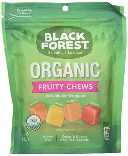 Black Forest Organic Candy, Fruity Chews, 8 Ounce(Pack of 6)
