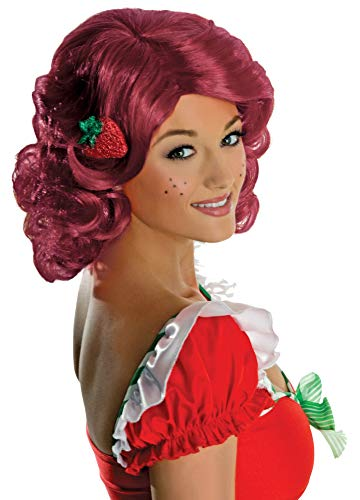 Secret Wishes Deluxe Adult Strawberry Shortcake Wig, Red, One Size -