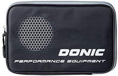 Donic - Funda doble fase negra para raqueta de ping ping Pong Tenis de Mesa