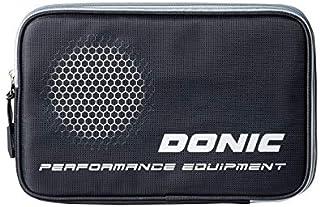 DONIC - Housse Double Phase Noire pour Raquette de ping Pong Tennis de Table