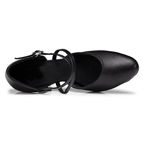 de 8cm Miyoopark femme heel 35 Black noir bal Salle Tqcq5wvO