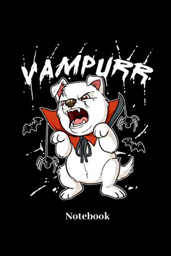 Vampurr Notebook: Lined journal for dog, pet, hound, vampire and halloween fans - paperback,sketchbook, diary gift for men, women and children