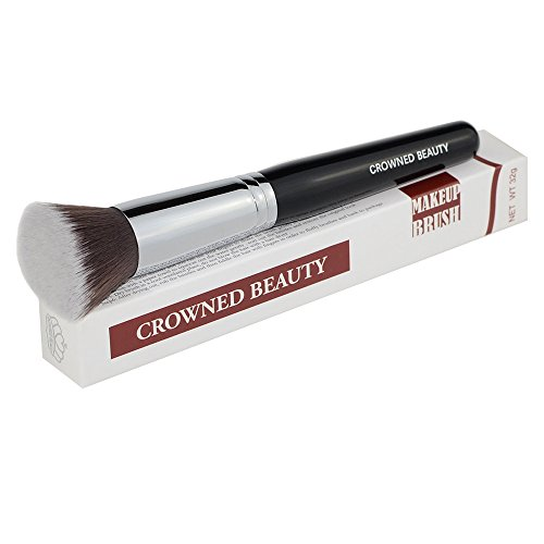 Professional Flat Top Kabuki Foundation Makeup Brush Copper Brush Ferrule Liquid Blending Mineral Powder Makeup Brush (Foundation Copper Powder)