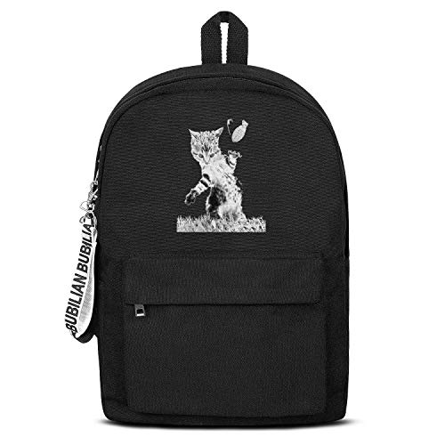 Funny Ata Cats Canvas Backpack for Men Women Funny Satchel Diaper Backpack ()