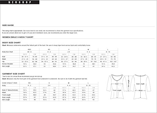 c2ac40310f1b27 Amazon.com: NEUSHOP Women's Emile 100% Cotton 3/4 Sleeve Premium T-Shirt:  Clothing