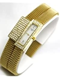 Tissot Watches- Tissot Belflower Set (Watch and Bracelet) in 18K Gold Flexible Adjustable Women's Watch