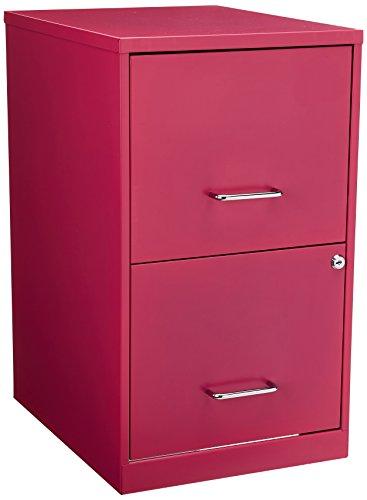 Hirsh 2 Drawer File Cabinet in Pink by Hirsh Industries