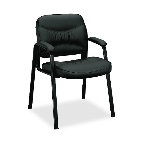basyx by HON VL643 Series Guest Chair with Padded Arms, Blac