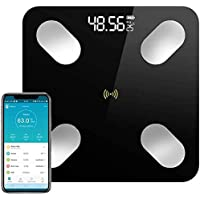 TECHVIDA Bluetooth Balanza de Grasa Corporal Digital Bluetooth 4.0 Inalámbrica Inteligente,59 datos Relacionados…