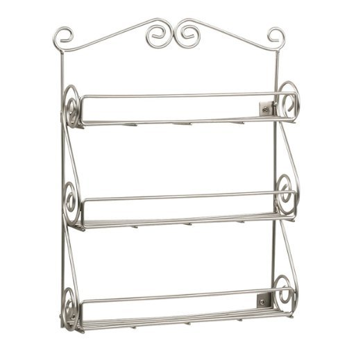 Wall Mount Spice Rack With Satin Nickel Finish - Beautiful S