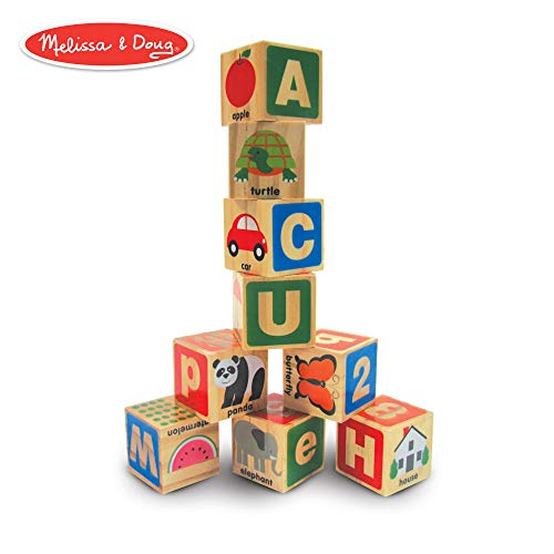 Melissa & Doug ABC/123 Wooden Blocks (26 ()