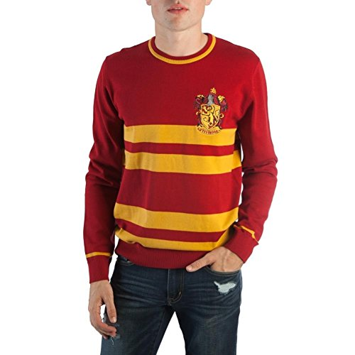 Bioworld Harry Potter House Mens Jacquard Sweater Gryffindor Small
