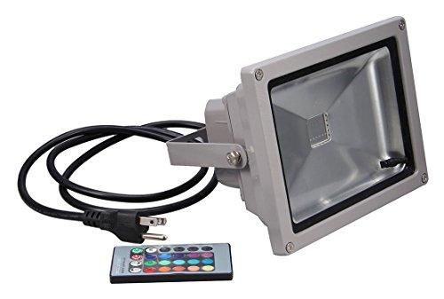 [econoLED Remote Control RGB Waterproof Flood Light, 16 Different Color Tones, 10W] (Halloween Lighting)