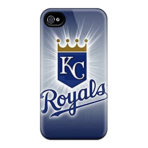 Shockproof Cell-phone Hard Cover For Iphone 4/4s With Allow Personal Design Nice Kansas City Royals Series ErleneRobinson