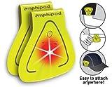 Amphipod Vizlet Wearable Triangle LED Reflector Clip On - 2 Pack