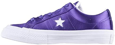 Converse One Star 2V OX Court Shoes PurpleWhite White Size