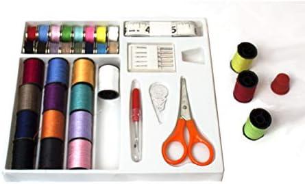 PRIXTON - Kit de Costura con Hilos, Enhebrador, Tijeras, Aguja y ...